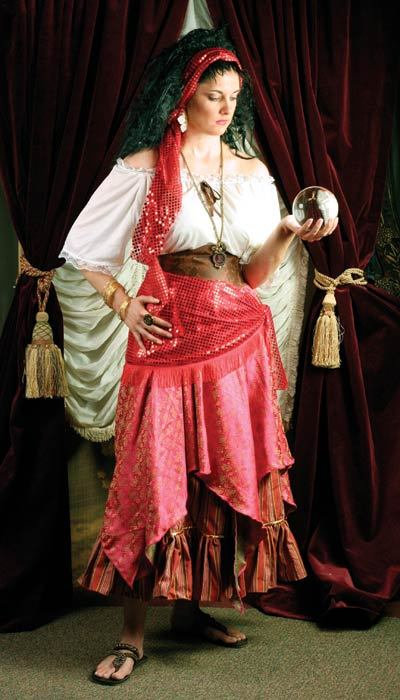 Fortune Teller Booth Halloween Craft: Fortune Teller Costume, Gypsy Fortune Teller And Head